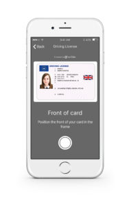 Onfido Mobile SDK Drivers Licence (Copyright Onfido)