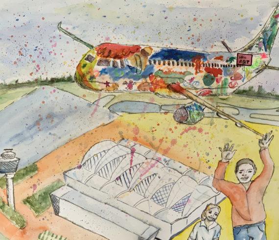 """Flughafen München zeigt little ART Ausstellung """"Woran Kinder glauben"""""""