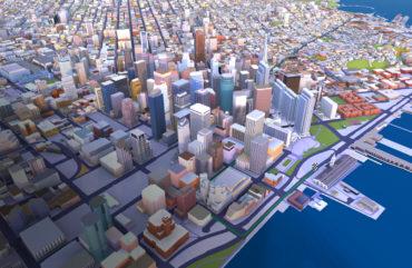 Mehr als 75 Städte weltweit sind mit HERE Premier 3DCities in dreidimensionaler Darstellung verfügbar. (Bildquelle: HERE)