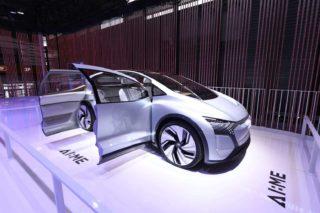"""Audis neues Konzeptfahrzeug """"AI:ME"""" auf der CES Asia 2019."""