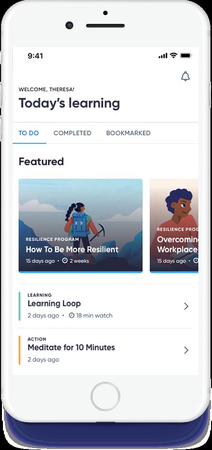 Screenshot BetterUp App (Copyright BetterUp)
