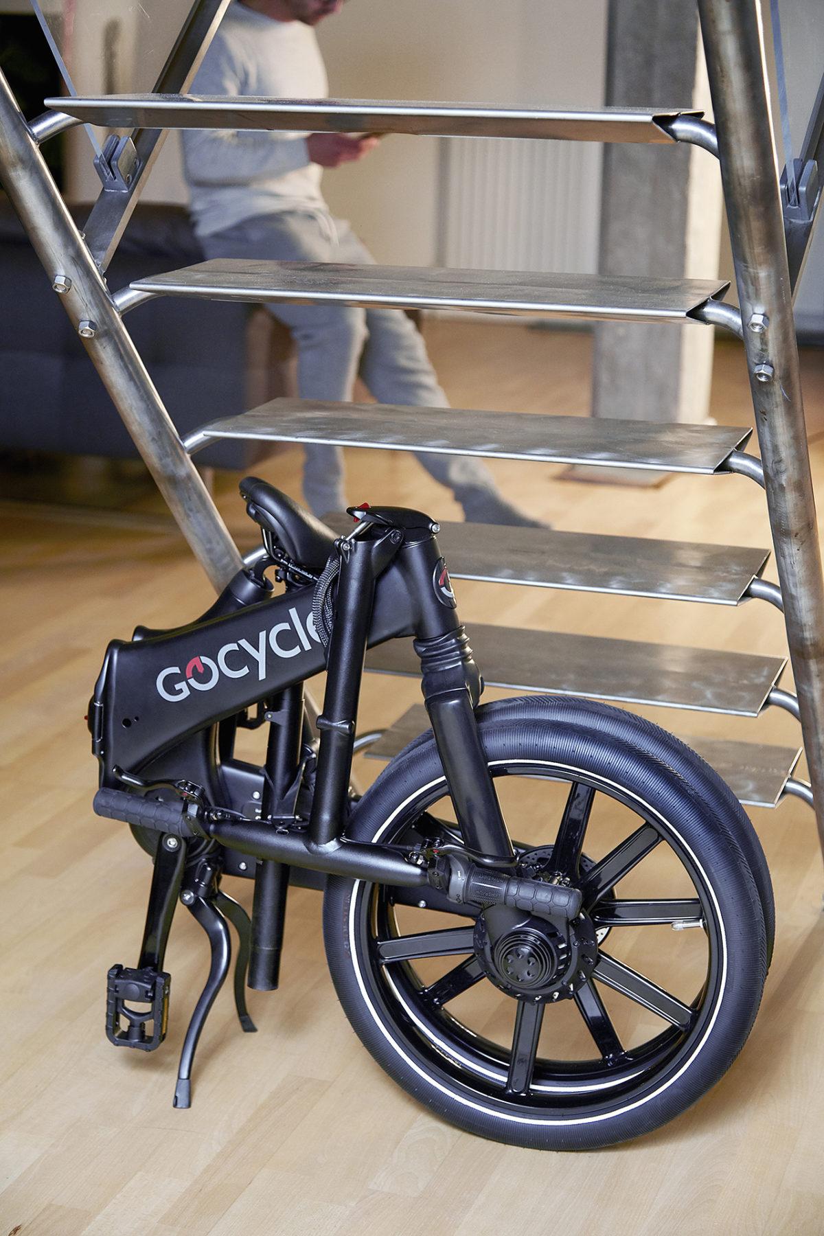 Gocycle GX zusammengeklappt