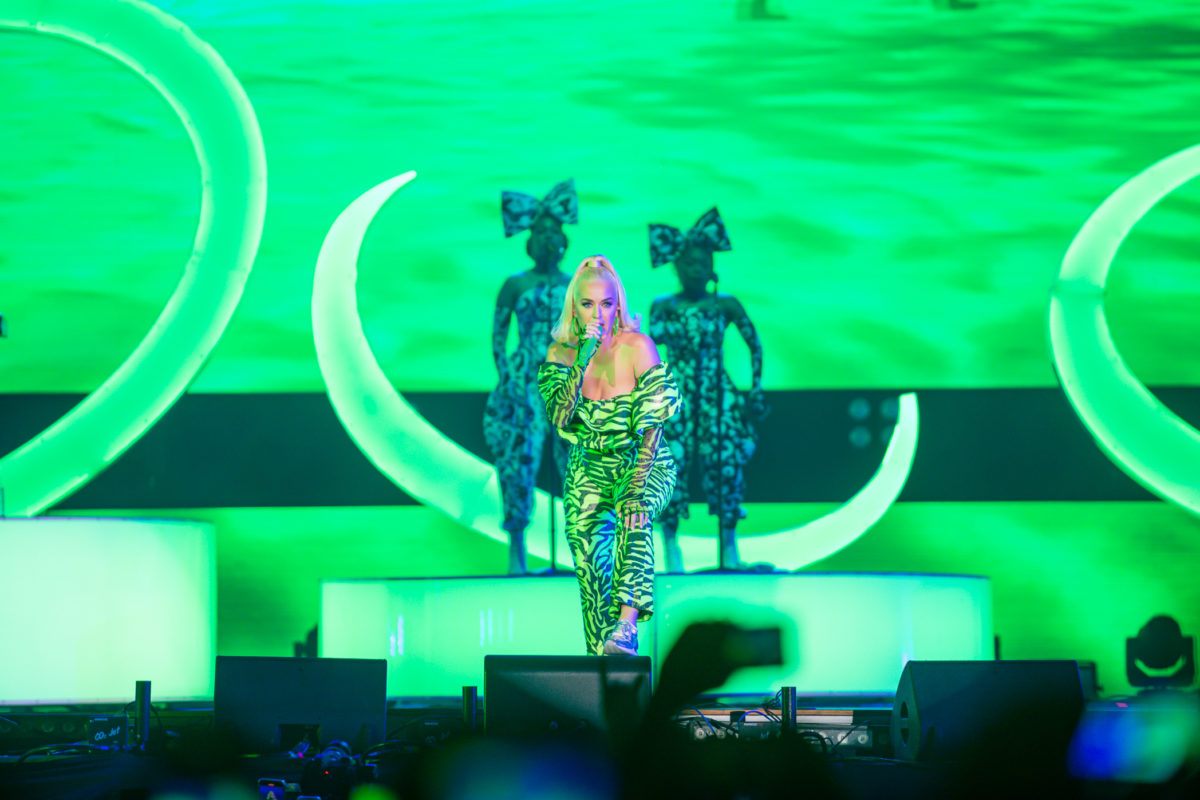 Globaler Pop-Superstar Katy Perry beim ersten OnePlus Music Festival in Mumbai