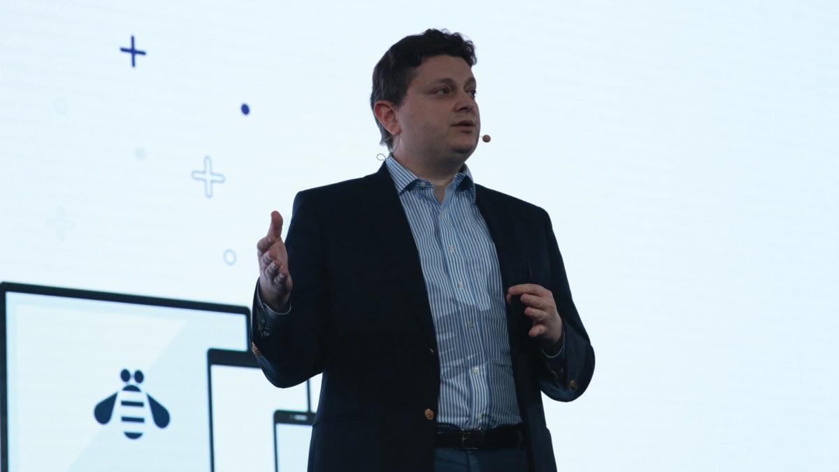 IBM CIO Fletcher Previn hält die Keynote auf der JNUC 2019 (Copyright Jamf)