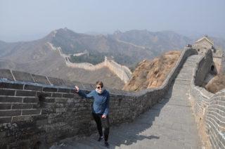 Julia auf der Chinesischen Mauer