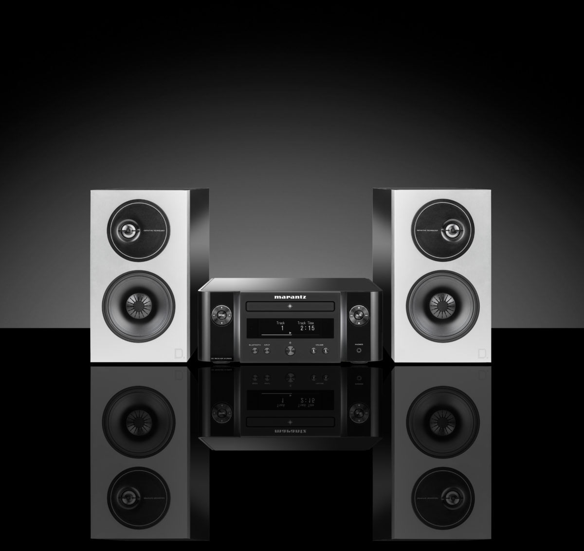 Marantz M-CR412 + Definitive Technology Demand D7 speakers