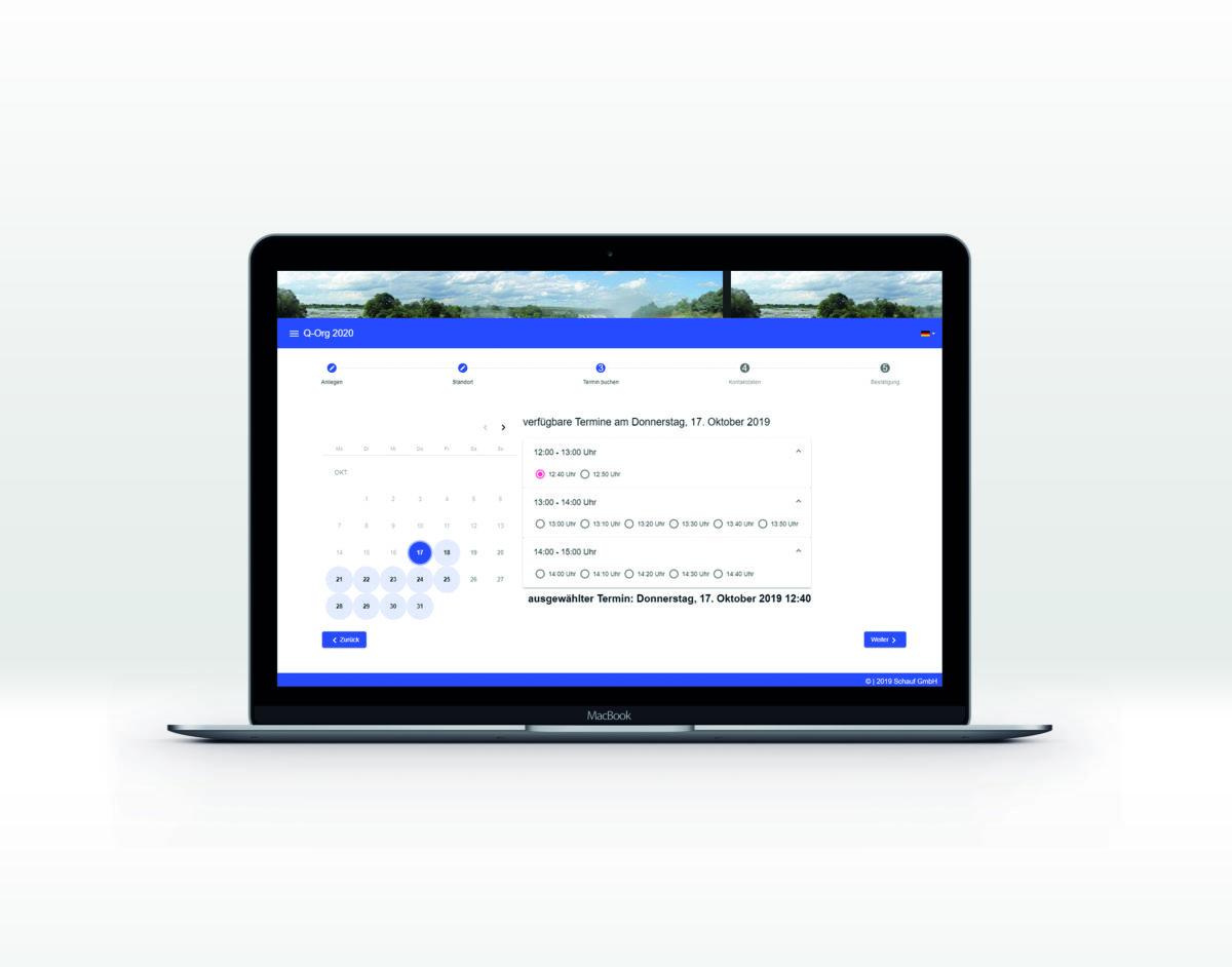 Schauf GmbH Online-Terminbuchungssoftware Q-Org