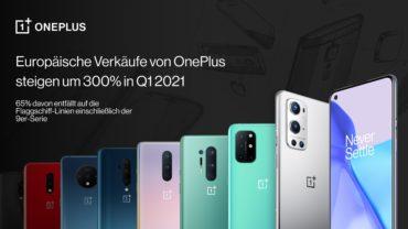 Europäische Verkäufe von OnePlus steigen um 300% in Q1 2021, Copyright: OnePlus