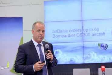 Pressekonferenz Bombardier und airBaltic Mai 2018