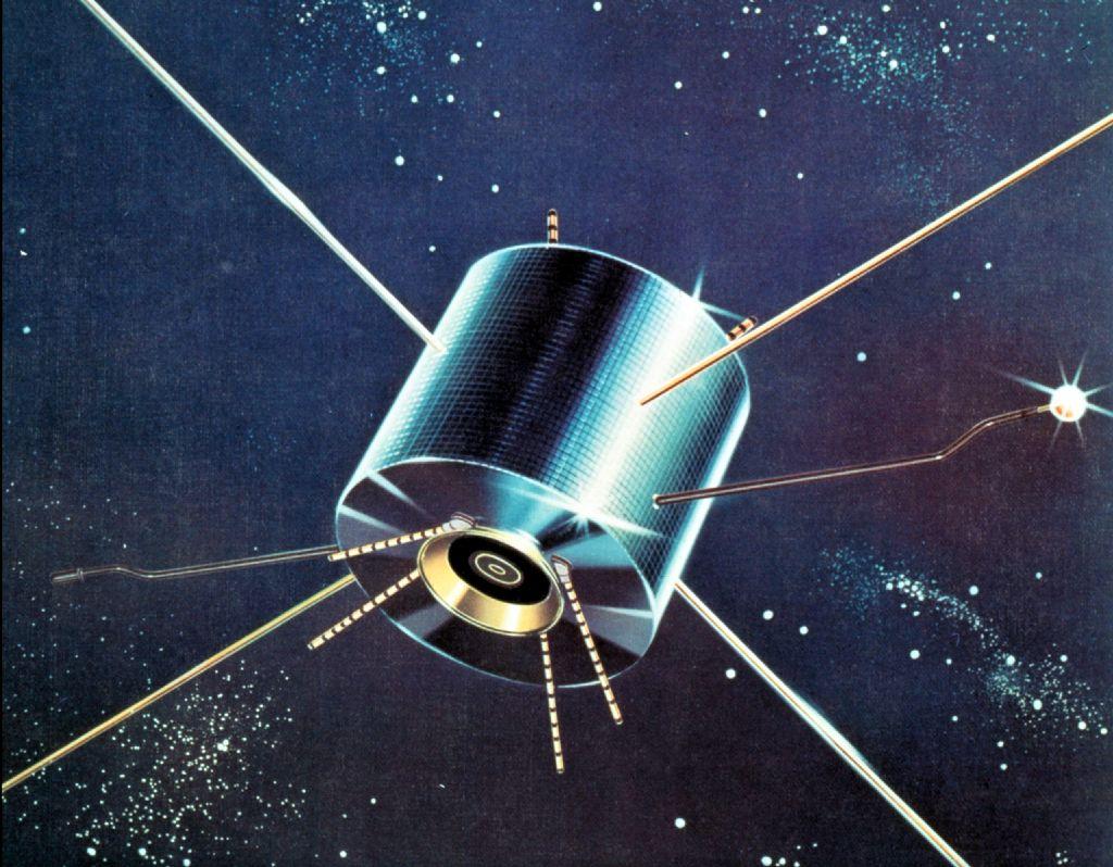 """Japans ersten operativen Weltraumsatelliten """"Ume"""" aus dem Jahr 1976"""