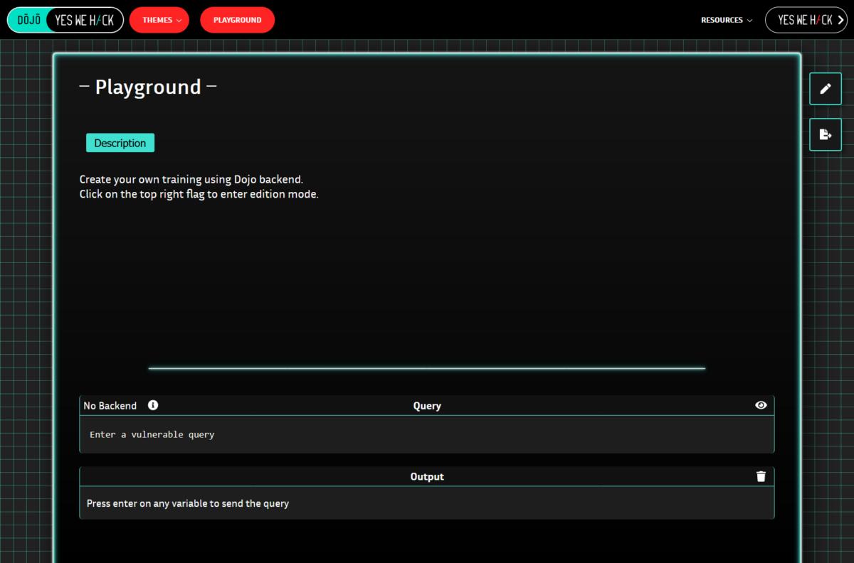 Screenshot YesWeHack Lernplattform Dojo (Copyright YesWeHack)
