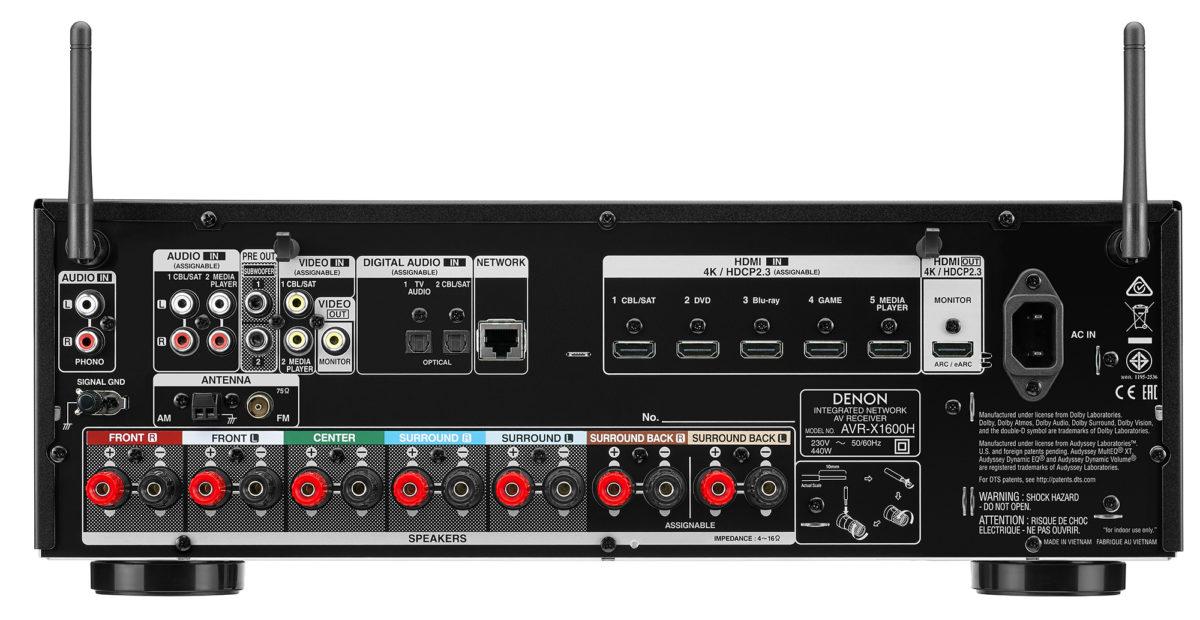 Denon AVR X1600H,