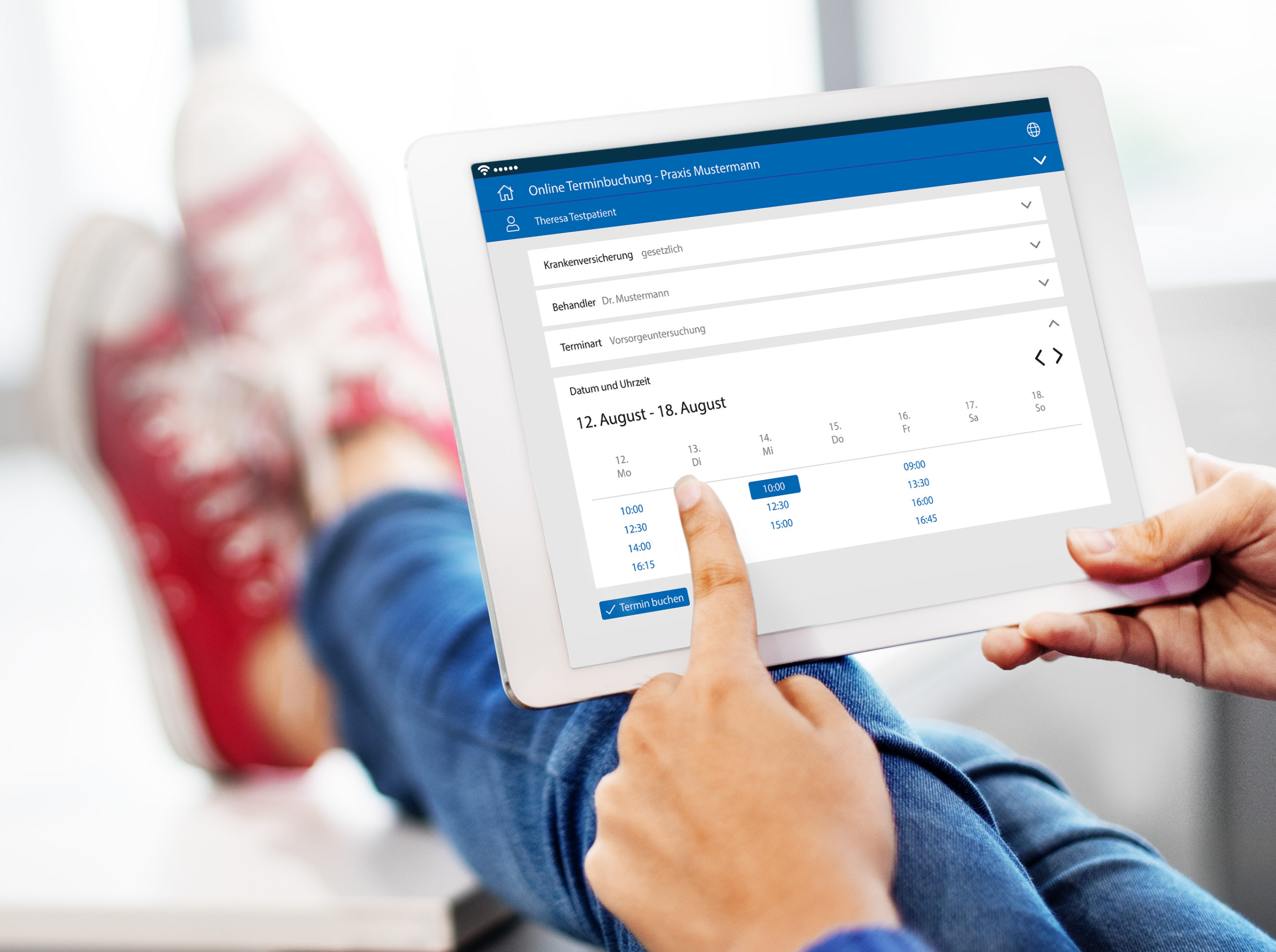 E-Health-Anbieter samedi bietet u.A. Online-Terminbuchung, Copyright: samedi